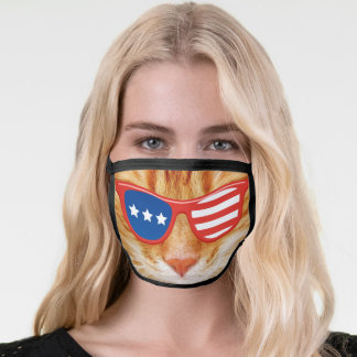 AMERICAN KITTY CAT PATRIOTIC MASK