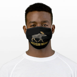 American moose adult cloth face mask