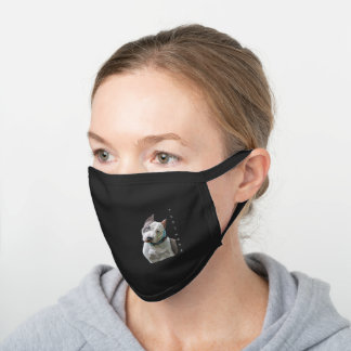 American Staffordshire Terrier Pitbull Dog Black Cotton Face Mask
