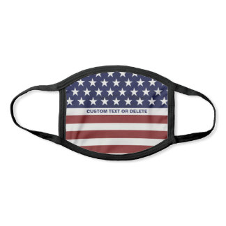 American USA Flag, Red White Blue Custom Face Mask