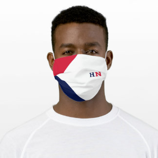 Americana color block adult cloth face mask