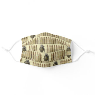 Ammo and grenades pattern adult cloth face mask
