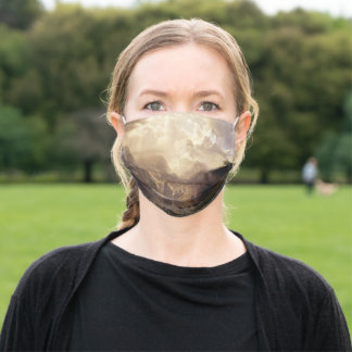 Among the Sierra Nevada Mountains, Bierstadt Poste Adult Cloth Face Mask