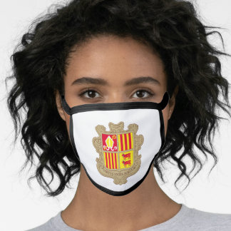 Andorran coat of arms face mask