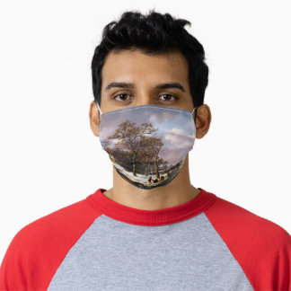 Andreas Schelfhout Winter Landscape Poster Adult Cloth Face Mask