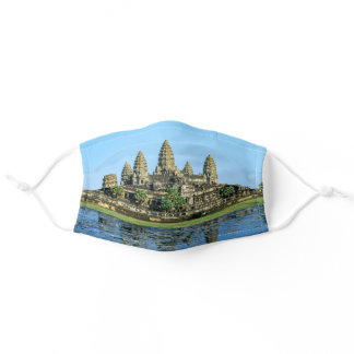 Angkor Wat and reflection in the lake - Cambodia Adult Cloth Face Mask