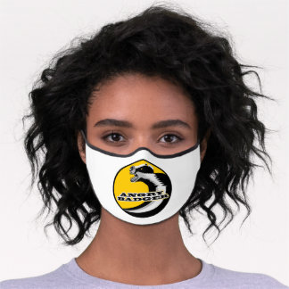 Angry badger premium face mask