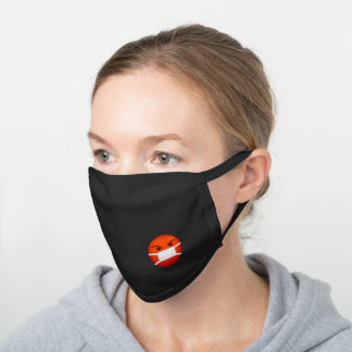 Angry red emoji with a mask