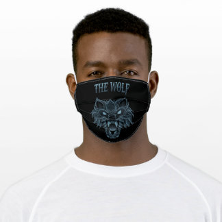 Angry wolf adult cloth face mask