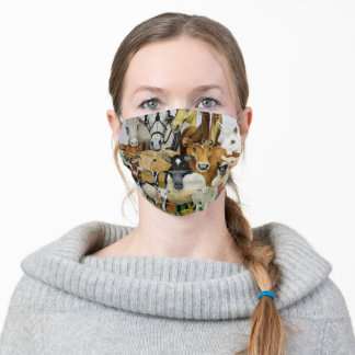 Animal Allsorts Adult Cloth Face Mask