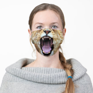 Animal 'Lion Face' Adult Cloth Face Mask