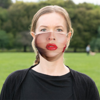 Anonymous Reality Red Make A Statement Lips Adult Cloth Face Mask