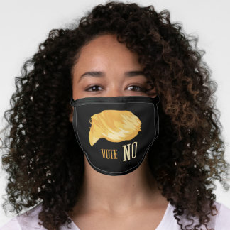 Anti Trump Vote No Yellow Hair Face Mask