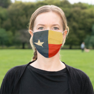 Antique aged Texas state flag Adult Cloth Face Mask
