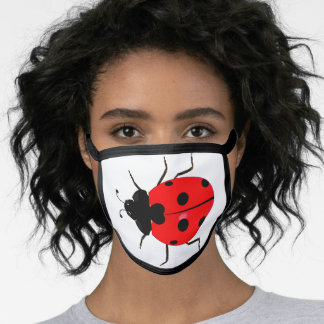 Any Color Background Ladybug All-Over Print Face Mask