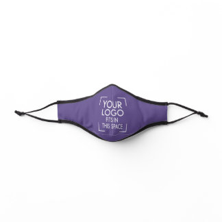 Any Color Company Logo Business Employee Purple Premium Face Mask