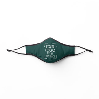 Any Color Company Logo Business Solid Dark Green Premium Face Mask