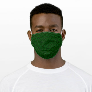 Any Color! Subtle Unisex Geometric Pattern Solid Adult Cloth Face Mask