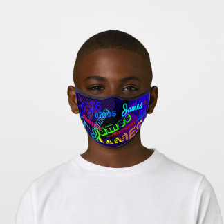 Any Name Customizable Colorful Name Pattern Premium Face Mask