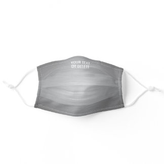 Any Text / Quote Heathered Pattern Elegant Gray Adult Cloth Face Mask