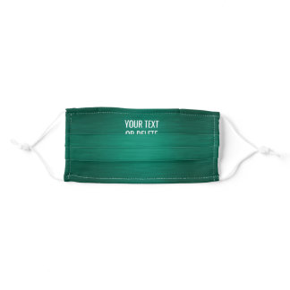 Any Text / Quote Heathered Pattern Elegant Green Adult Cloth Face Mask