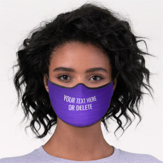Any Text / Quote Heathered Pattern Elegant Purple Premium Face Mask