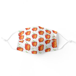 Apple for the Teacher Shiny Red Apples School Adult Cloth Face Mask