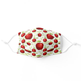 Apple Teacher Green Red Fruit School Cute Adult Cloth Face Mask
