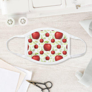 Apple Teacher Green Red Fruit School Cute Name Face Mask
