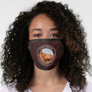 Arches National Park Skyline Arch Photography Face Mask