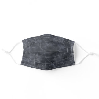 Architectural Motif Navy Face Mask