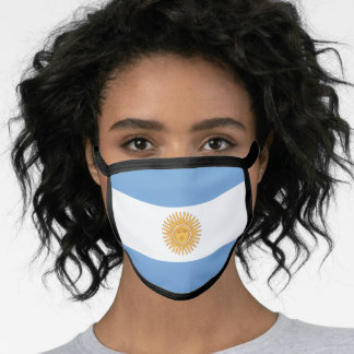 Argentinian flag face mask