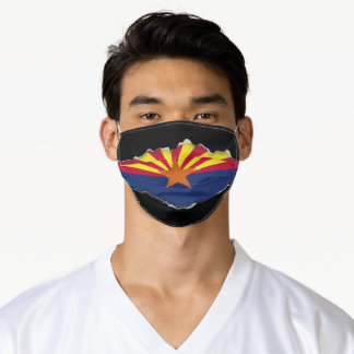 Arizona Flag | Faux Torn Out Look Adult Cloth Adult Cloth Face Mask