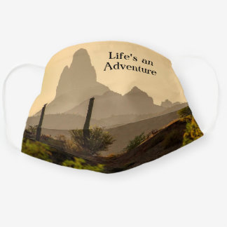 Arizona Scenic View Mountains Weaver's Needle Cloth Face Mask