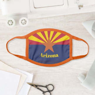 Arizona State Flag Design Face Mask