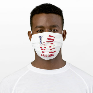 Arizona US state love Adult Cloth Face Mask