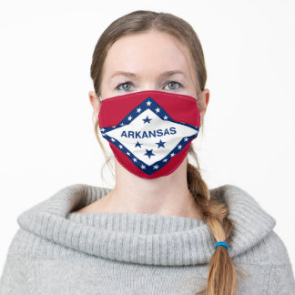 Arkansas State Flag Adult Cloth Face Mask
