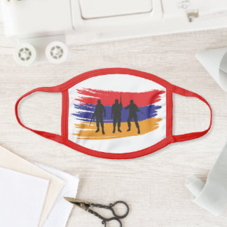 Armenia strong artsakh support face mask