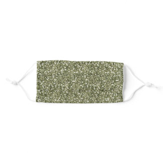 Army Green Drab Olive Sparkly Glitter Cloth Adult Cloth Face Mask