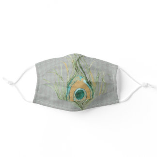 Artistic Peacock Feather Adult Cloth Face Mask