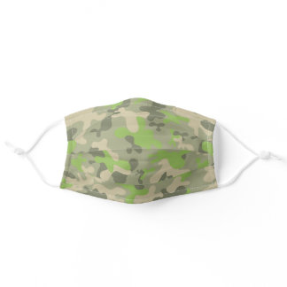 Artsy Green Camouflage Reusable Washable Adult Cloth Face Mask