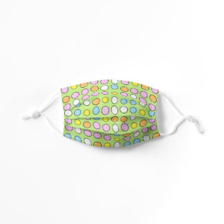 Artsy Pink Blue Green Abstract Easter Eggs Pattern Kids' Cloth Face Mask
