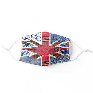 Arty Union Jack of Great Britain British Flag Adult Cloth Face Mask