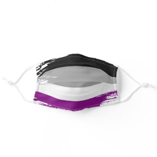 Asexual Pride Flag Horizontal Stripes Striped Cool Adult Cloth Face Mask