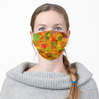 Aspen Leaves collage solid medley seamless 1 Adult Cloth Face Mask