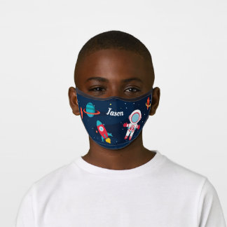 Astronaut Outer Space Rocket Ship Personalized Premium Face Mask