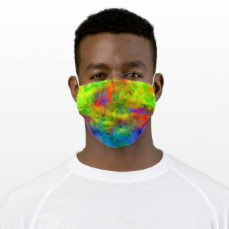 [Atomic Tie-Dye] Rainbow Colors Fractal Adult Cloth Face Mask