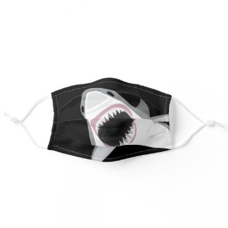 Attack of the Great White Shark Funny Adult Cloth Face Mask
