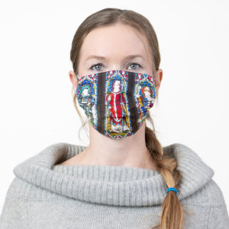 Attractive Stained Glass Religious Design Adult Cloth Face Mask