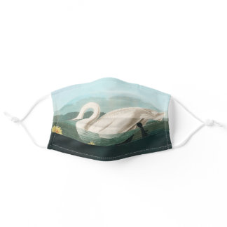 Audubon White Swan Wildlife Bird Adult Cloth Face Mask
